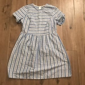 Dresses & Skirts - Blue and white a line dress
